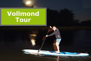 Vollmond SUP Tour Paddeln bei Nacht